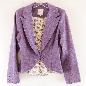 Mason One Button Purple Lavender Wool Blazer